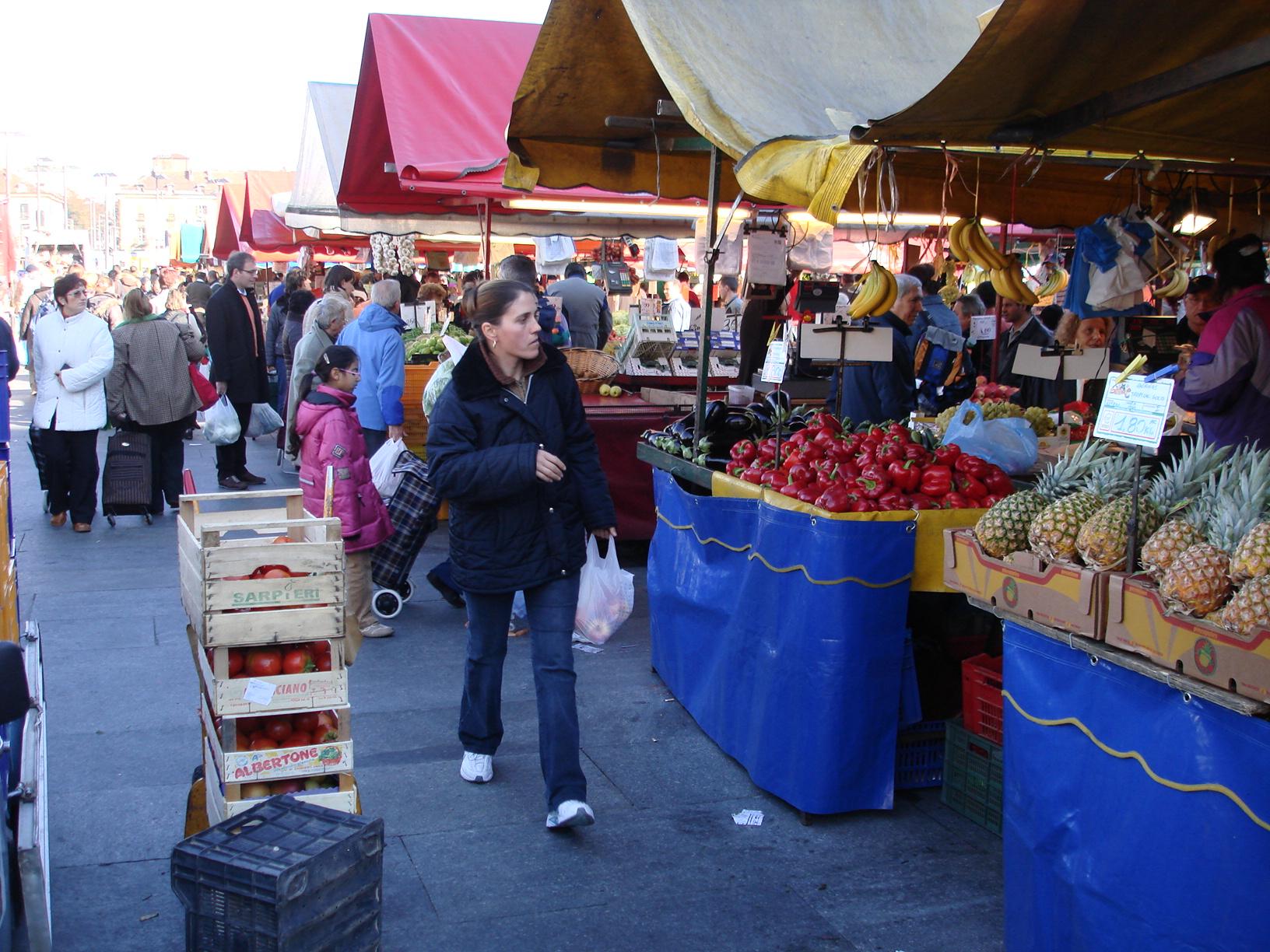 Le marché de  Turin